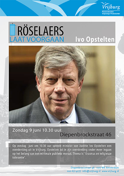 Flyer dienst met Ivo Opstelten