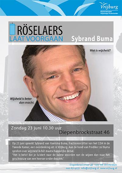 Flyer Sybrand Buma