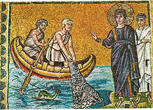 Petrus wordt door Jezus gevonden