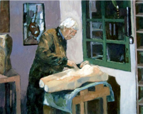 schilderij van Guus de Bakker